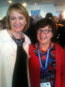 F.v.: Islands innenriksminister Hanna Birna Kristjànsdòttir og leder for EPEA Lena Axelsson.